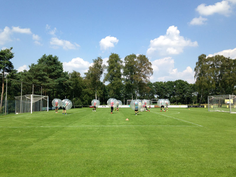 bubbelbal-voetbal-team